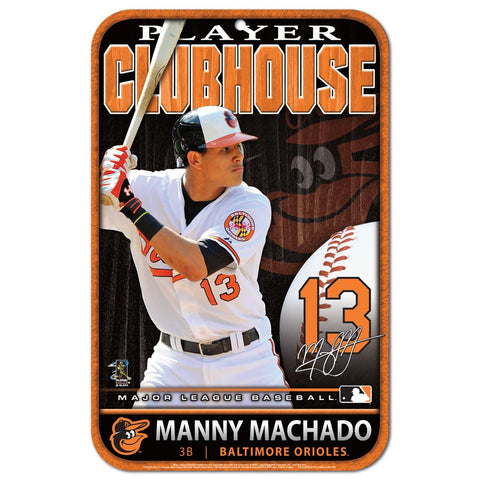Manny Machado Clubhouse Sign