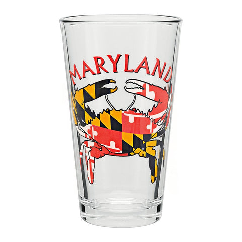 Maryland Flag Crab Pint Glass