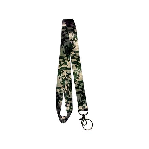 Maryland Flag Lanyard - Grayscale