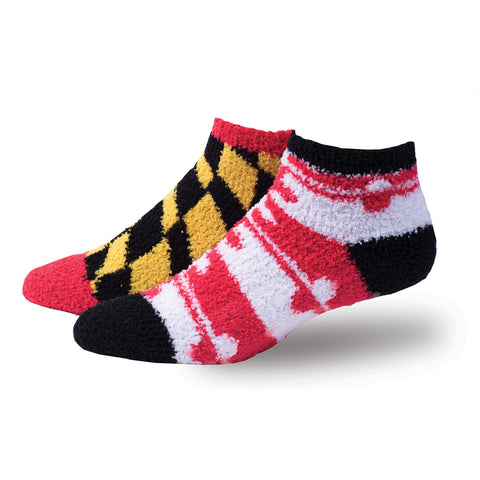 Maryland Flag Left and Right Sleep Socks