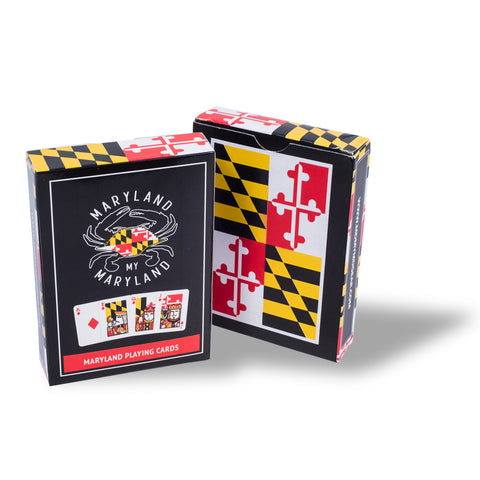 Maryland Flag Playing Cards Box