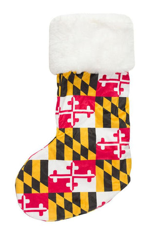 Maryland Flag Christmas Stocking