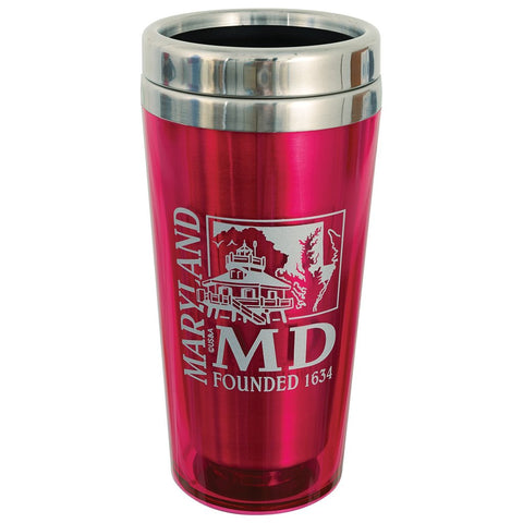Maryland Pink Insulated Stainless Mug