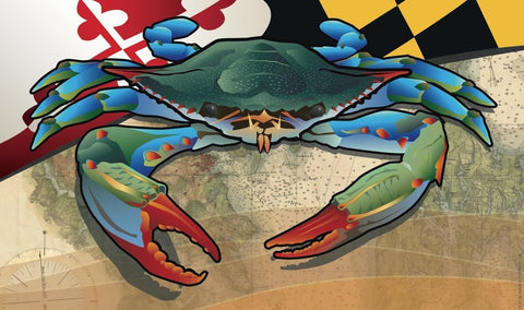 Maryland Blue Crab Door Mat