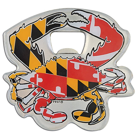 Maryland Flag Crab Magnetic Bottle Opener