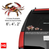 Maryland Flag Crab Vinyl Decal - Vehicle - HomeGamers