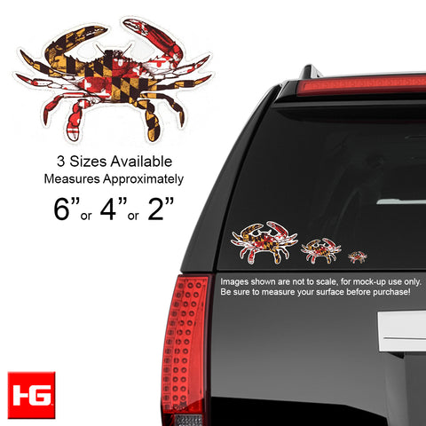 Maryland Flag Crab Vinyl Decal