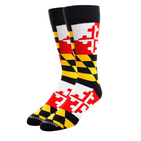 Maryland Flag Dress Socks