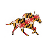 Maryland Flag Horse and Jockey Decal
