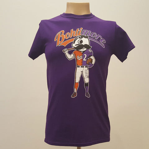 Natty Boh - Bohtimore Mix Purple T-Shirt