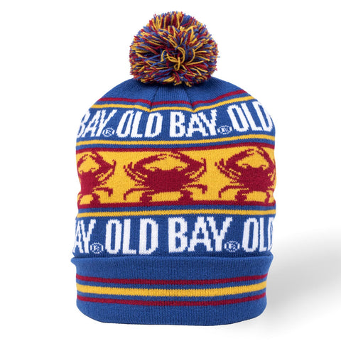 OLD BAY® Crab Stripe Pom Beanie - HomeGamers