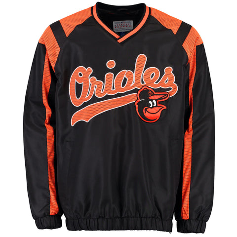 Baltimore Orioles Black Heavy Hitter Pullover Jacket