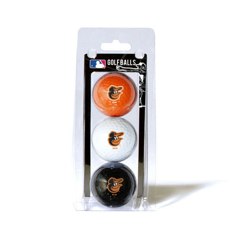 Baltimore Orioles Golf Balls 3 Pack