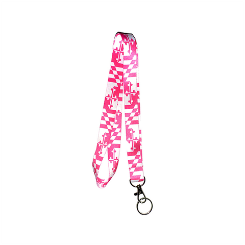 Maryland Flag Lanyard - Pink