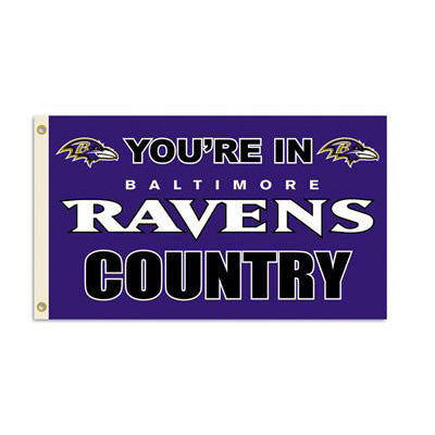 You're In Ravens Country 3' x 5' Flag