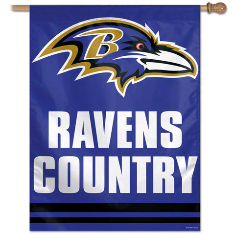Baltimore Ravens Country Vertical Flag