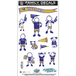 Ravens Family Decals - Medium Sheet