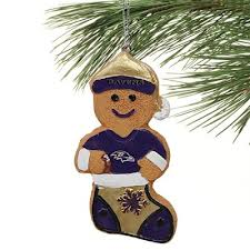 Ravens Gingerbread Ornament
