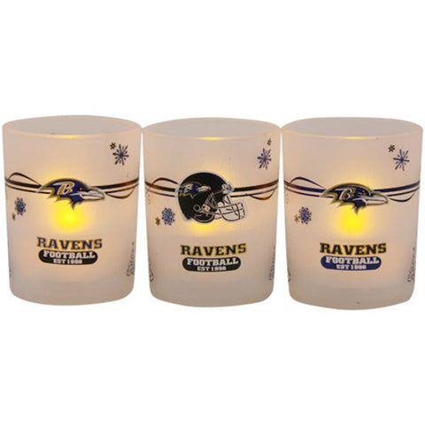 Ravens LED Candles 3-Pack