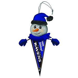 Ravens Light Up Pennant Ornament
