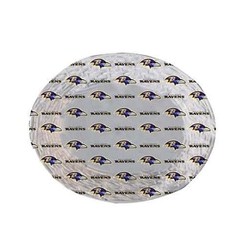 "Ravens Plastic 18"" x 15"" Oval Tray"