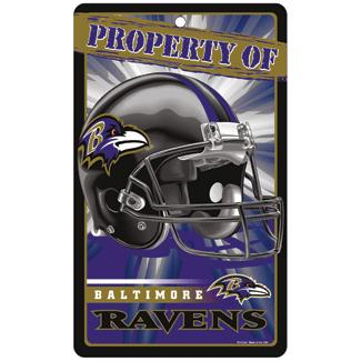 "Baltimore Ravens 7.25"" x 12"" Property Of Sign"