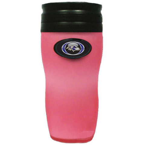 Ravens Soft Touch Travel Tumbler - Pink