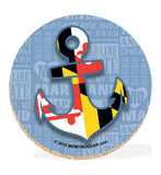 Maryland Coaster Set with Tin - Anchor - HomeGamers