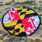 Maryland Flag Circle Beach Towel