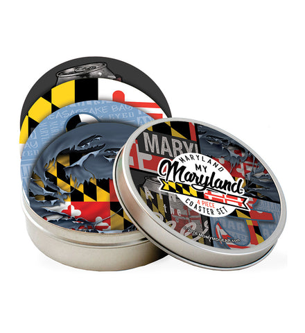 Maryland Coaster Set with Tin