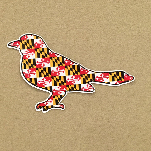 Maryland Flag Bird Decal - HomeGamers