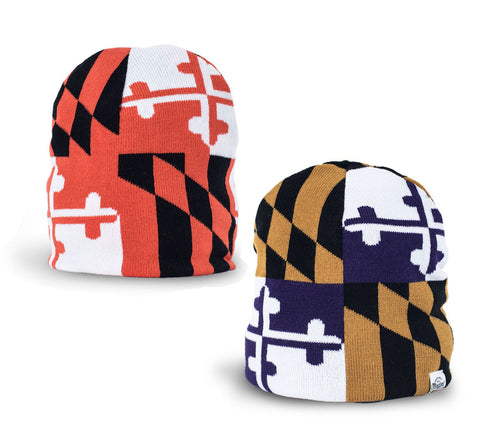 Maryland Flag Sports Reversible Beanie