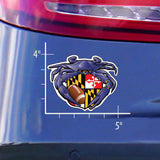 Football Crab Maryland Crest Die Cut Decal - Model - HomeGamers