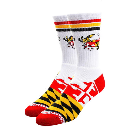 Maryland Flag Crab Crew Socks