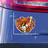 Baseball Crab Maryland Crest Die Cut Decal - Model - HomeGamers