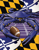 Maryland Flag Ravens Crab Garden Flag