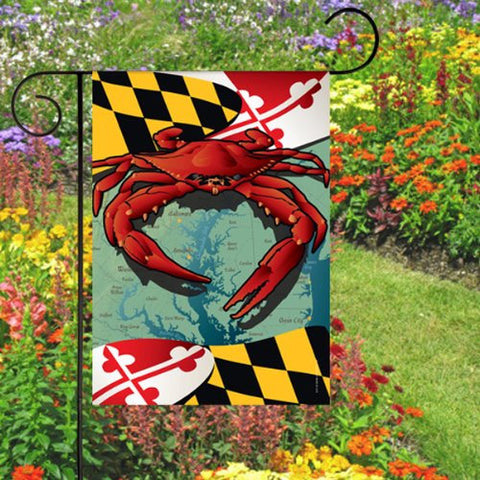 Maryland Flag Red Crab Garden Flag