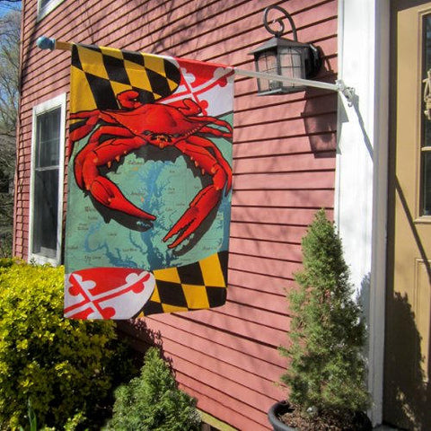 Maryland Flag Red Crab Vertical House Flag