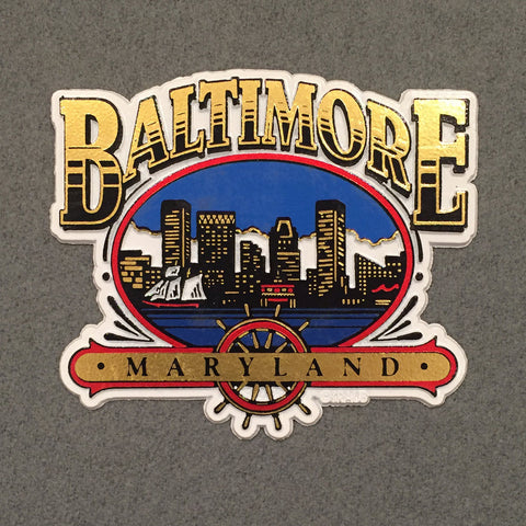 Baltimore Maryland Skyline Magnet - HomeGamers