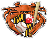 Baseball Crab Maryland Crest Die Cut Decal - HomeGamers