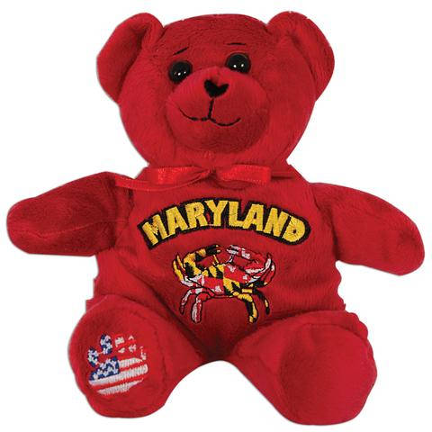 Maryland Plush Bear with Crab