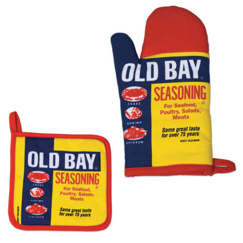 OLD BAY® Kitchen Set Oven Mitt and Pot Holder