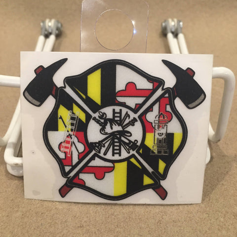 Maryland Fire & Rescue Die Cut Decal