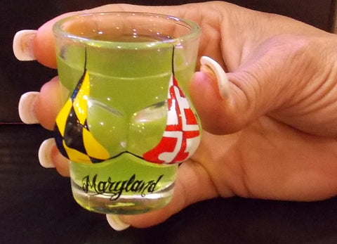 Maryland Flag Bikini Shot Glass