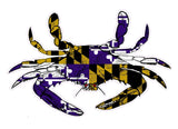 Purple and Gold Maryland Flag Crab Decal - HomeGamers