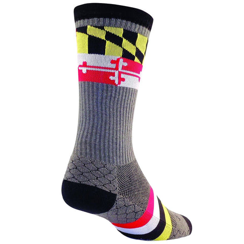 Maryland Flag Socks - Gray