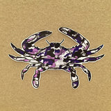 Purple Camo Crab 5 in. Vinyl Decal
