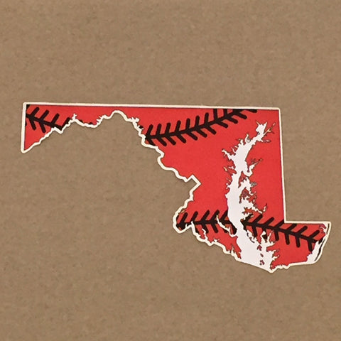 Maryland State Orange Baseball Decal - HomeGamers