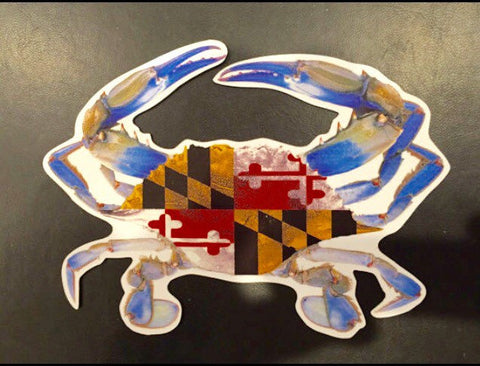 Blue Crab Maryland Flag Magnet
