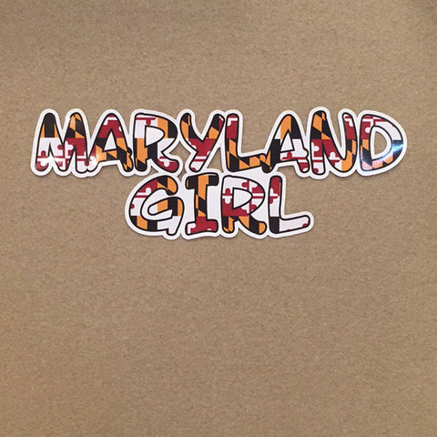 Maryland Girl with Maryland Flag Decal - HomeGamers